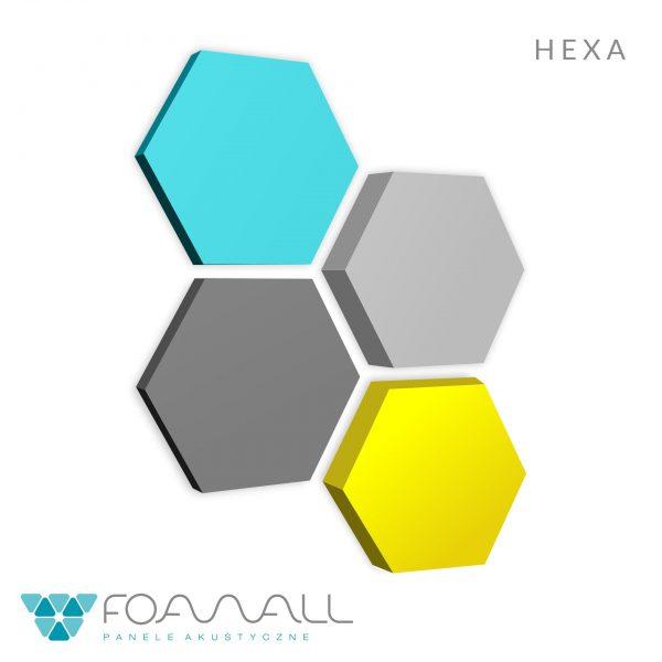 Heksagon na ścianę, panel piankowy | myMODULO.pl - sklep
