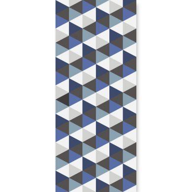 Tapeta ścienna Hexagons Short Blue   myMODULO.pl