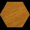 Panel drewniany, heksagon na ścianę duży SkotiWood | myMODULO.pl
