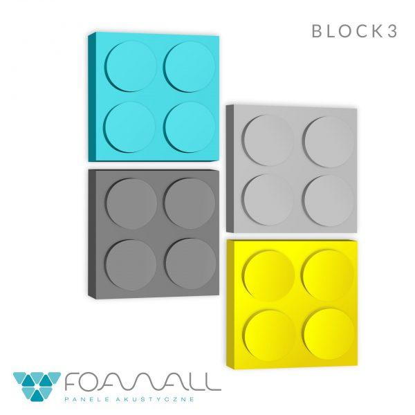 Panele piankowe BLOCK, panele ścienne | myMODULO.pl - sklep