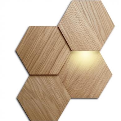 Panele drewniane - heksagon mały i duży | myMODULO - sklep