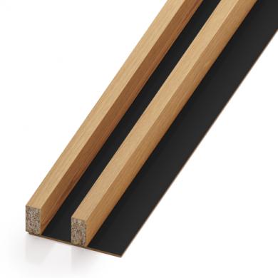 Lamele drewniane - pakiet 2M (rozstaw 40 mm) | myMODULO.pl