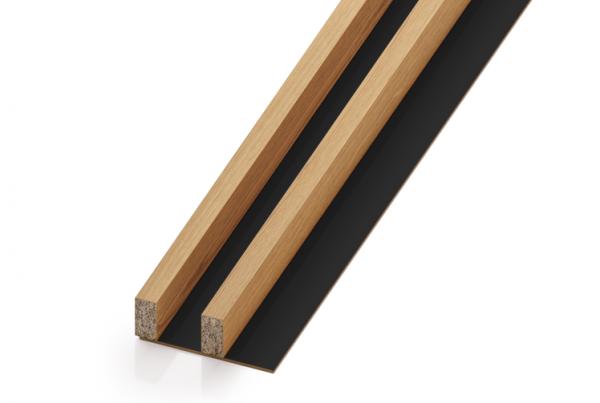 Lamele drewniane - pakiet 2M (rozstaw 40 mm)   myMODULO.pl