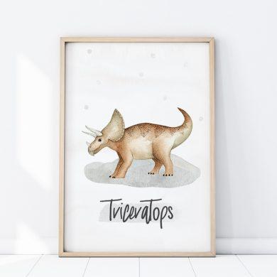 Plakat Triceratops - do pokoju dziecka | myMODULO.pl