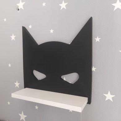 Półka drewniana do pokoju chłopca - Batman maska | myMODULO.pl