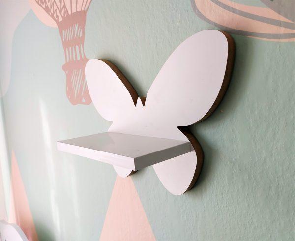 Drewniana półka w kształcie Motylka   myMODULO.pl