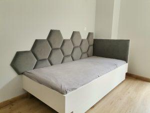 Heksagon panel tapicerowany