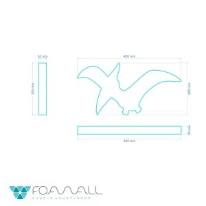 dinozaur panel piankowy