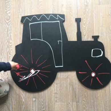 Traktor - tablica kredowo-magnetyczna | myMODULO.pl