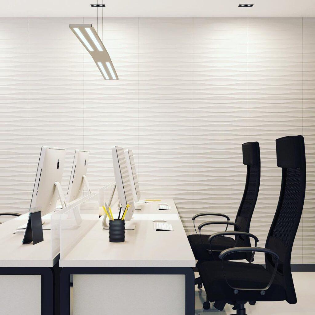 Panele Sandglass Kalithea w neutralnym białym kolorze. Dostępne w sklepie myMODULO.pl