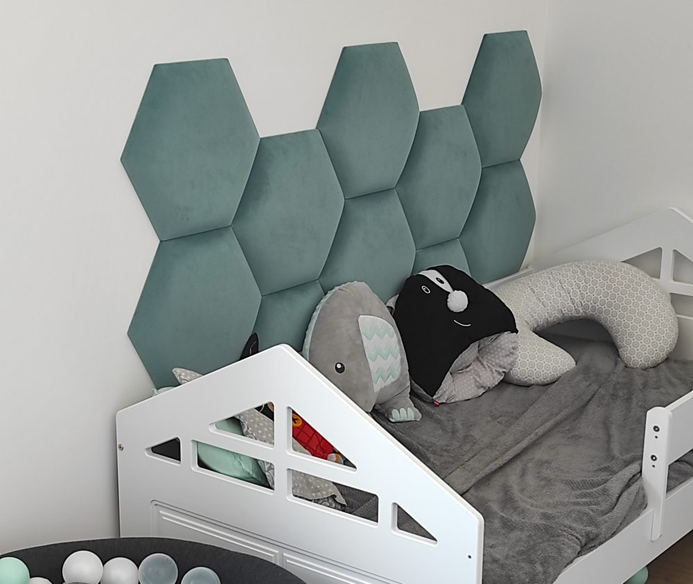 Heksagon panel tapicerowany | myMODULO.pl