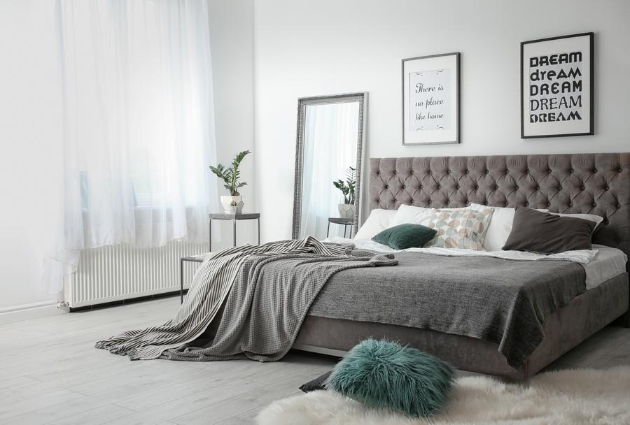 Pikowane łóżko tapicerowane | myMODULO.pl